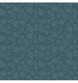 Blue colors flower and plant pattern design vector
