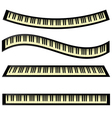 Set of keyboards vector