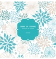 Blue and gray plants frame seamless pattern vector