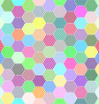 Abstract hexagon dots background vector