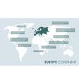 European continent facts vector