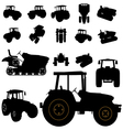 Tractor silhouette vector art - Download Agriculture ...
