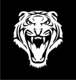 White tiger face vector