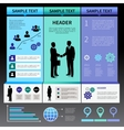 Infographics presentation layout template vector