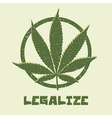 Marijuana leaf legalize vector
