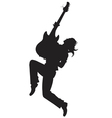 Rock star silhouette - vector