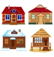 Four buildings vector