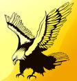 Landing eagle silhouette vector