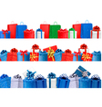 Set of shopping banners with gift colorful boxes vector