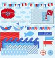 Nautical sea theme vector
