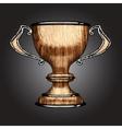 Wooden award vector