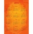 Artistic 2015 year calendar vector