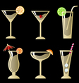 Cocktail glass vector