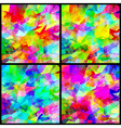 Set background multicolor abstract vector