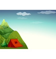 Camping site vector