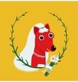 Dog bride funny portrait vector