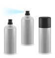 Three spray cans vector