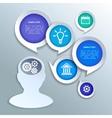 Paper business infographics design elements vector