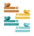 Ribbon infographic vector