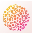 Stylish beautiful flower set on background vector