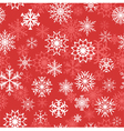 Snowflakes on red background vector