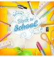 Back to school - school supplies eps 10 vector