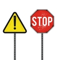 Traffic safety signs vector