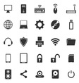 Computer icons on white background vector