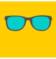 Sunglasses with sunburst glasses flat design style vector