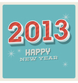 Happy new year 2013 typographic card vector