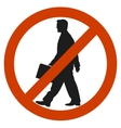 Entrance and access is denied to men sign symbol vector