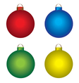Christmas shiny balls vector