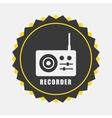 Recorder icon vector
