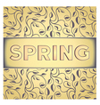 Vintage spring card with aged effect vector