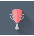 Flat cup icon vector