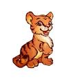 Tiger in cartoon style vector