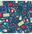 Medical and health care seamless pattern vector