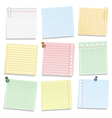 Colored notebook paper vector