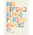 Geometric font vector