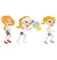 Sport girls vector