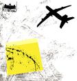 Grunge airplane vector