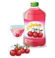 Cherry juice drink vector