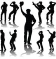 Dance people with hat vector