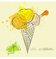Stylized ice cream vector