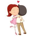 Couple hug vector