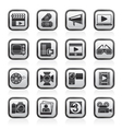 Movie and cinema icons vector