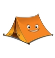 Cheerful cartoon orange tent vector