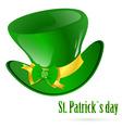 St patrick's green hat vector