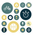Flat design icons for sport and fitness vector
