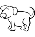 Doodle dog for coloring vector